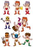 Cartoon wrestler icon Royalty Free Stock Photos
