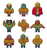Cartoon wrestler icon Royalty Free Stock Image