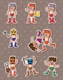 Cartoon wrestler stickers Stock Image