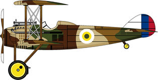 Cartoon WW1 Biplane Royalty Free Stock Image