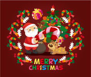 Cartoon xmas card Stock Images
