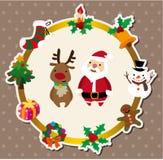 Cartoon xmas card Royalty Free Stock Photography