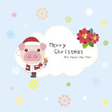 Cartoon Xmas card Stock Photography