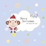 Cartoon Xmas card Stock Image