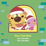 Cartoon Xmas card Royalty Free Stock Photography