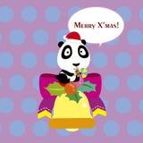 Cartoon Xmas card Royalty Free Stock Photo