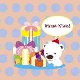 Cartoon Xmas card Royalty Free Stock Images
