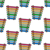 Cartoon Xylophone Seamless Pattern Royalty Free Stock Photo
