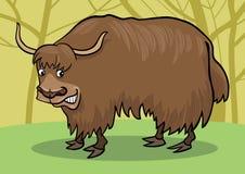 Cartoon Yak. Cartoon illustration of asian yak bull Stock Photos