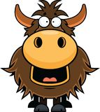 Cartoon Yak Happy Stock Image