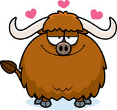 Cartoon Yak in Love Royalty Free Stock Photos
