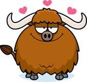 Cartoon Yak in Love. A cartoon illustration of a yak in love Royalty Free Stock Photos