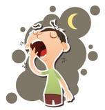 Cartoon yawning man Royalty Free Stock Images