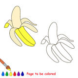 Cartoon yellow banana to be colored Stock Image