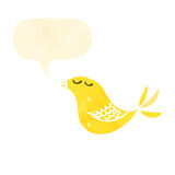 Cartoon yellow bird Stock Images