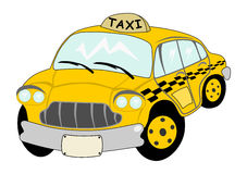 Cartoon yellow cab Royalty Free Stock Image