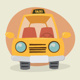 Cartoon Yellow Cab Royalty Free Stock Photos