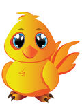 Cartoon Yellow Chicken Royalty Free Stock Photography