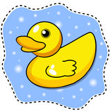 Cartoon yellow duck Stock Images