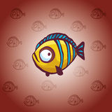 Cartoon yellow fish. Stock Image