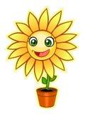Cartoon yellow flower Royalty Free Stock Photos