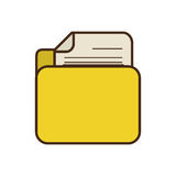 Cartoon yellow folder file document report paper. Illustration eps 10 Stock Photo