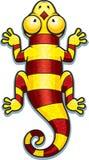 Cartoon Yellow and Red Lizard Stock Image
