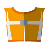 Cartoon yellow reflective vest safety workshadow Royalty Free Stock Photos