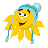 Cartoon yellow sun Stock Photography