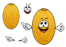 Cartoon yellow sweet melon fruit Royalty Free Stock Photos