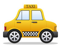Cartoon Yellow Taxi Car Royalty Free Stock Images