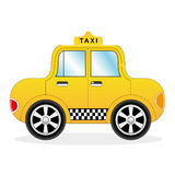 Cartoon Yellow Taxi Car Stock Images