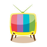 Cartoon Yellow Television Character Cute Vector Royalty Free Stock Photography