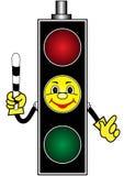 Cartoon yellow traffic light Stock Photo