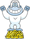 Cartoon Yeti Bananas Royalty Free Stock Photography