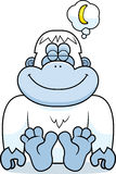 Cartoon Yeti Dreaming Stock Images