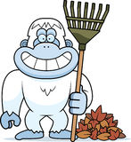Cartoon Yeti Fall Stock Images