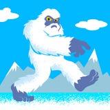 Cartoon yeti.funny yeti.yeti illustration. Cartoon vector illustration Stock Photography