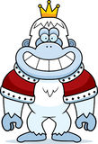 Cartoon Yeti King. A cartoon illustration of a yeti king with a crown and robes Stock Photography