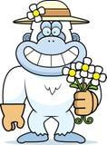 Cartoon Yeti Spring Royalty Free Stock Photo