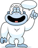 Cartoon Yeti Talking Stock Photo