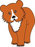 Cartoon young bear (grizzly) Royalty Free Stock Image