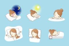Free Cartoon Young Beauty Sleep Stock Image - 72225591