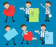 Cartoon Young Doctors Concepts and Vector Graphics Royalty Free Stock Photography