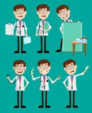 Cartoon Young Doctors Many Concepts Vector Royalty Free Stock Image