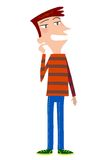 A cartoon young guy Royalty Free Stock Photo