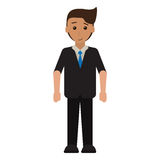 Cartoon young man with suit tie employee. Vector illustration eps 10 Stock Images