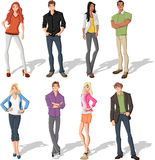 Cartoon young people Royalty Free Stock Photo