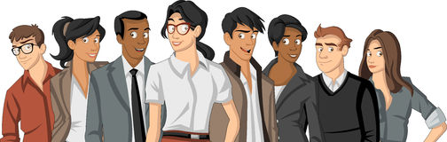 Cartoon young people Royalty Free Stock Photography