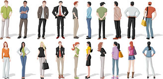 Cartoon young people Royalty Free Stock Images